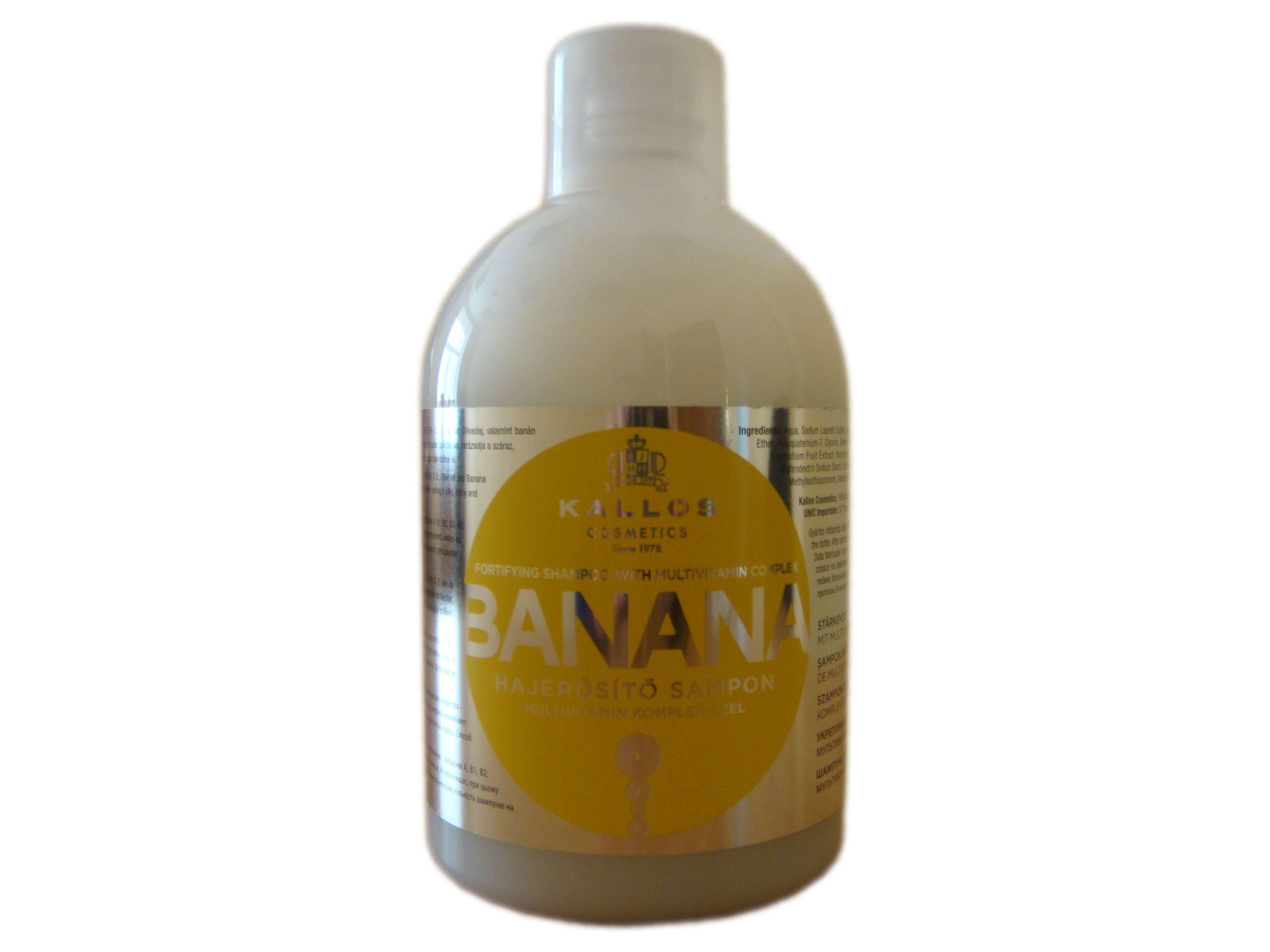 Шампунь для укрепления волос с мультивитаминным комплексом Kallos банан