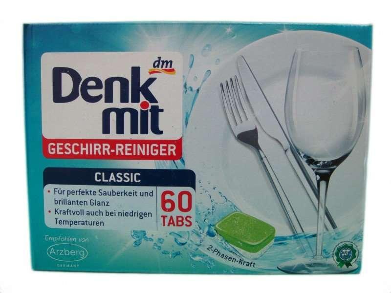 Таблетки для посудомойки DenkMit (60 таблеток)