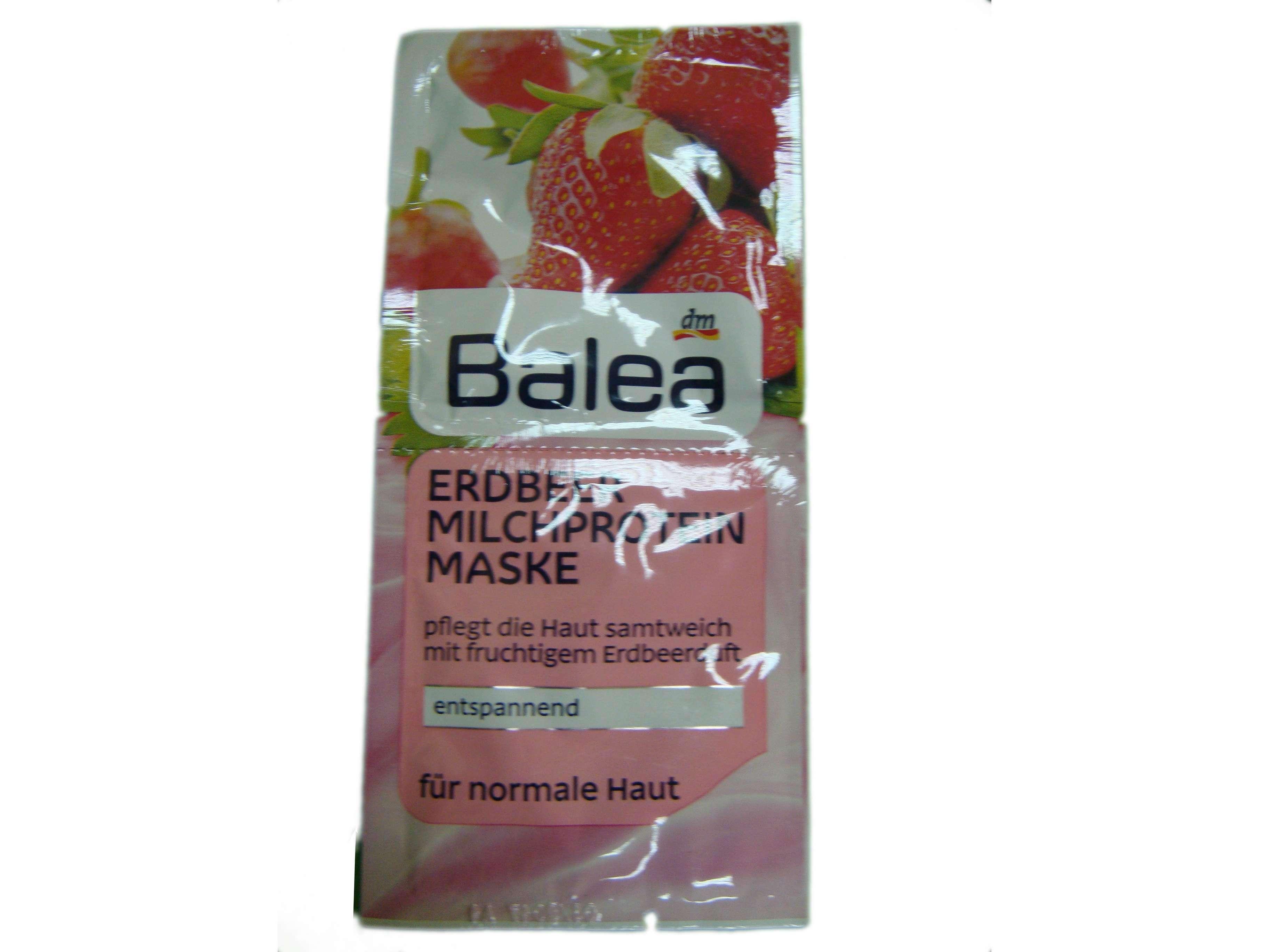 Ухаживающая маска для нормальной кожи с экстрактом клубники и йогуртом Balea