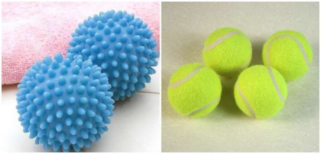 чтобы пух в пуховике не сбился комками, следует использовать шарики